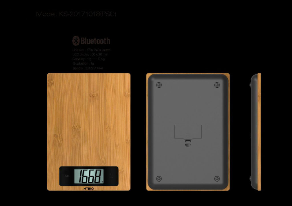 nutritional scale - bamboo