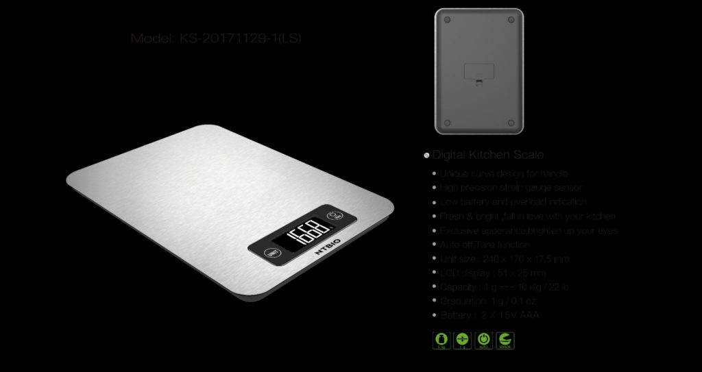 nutritional scale - stainless steel